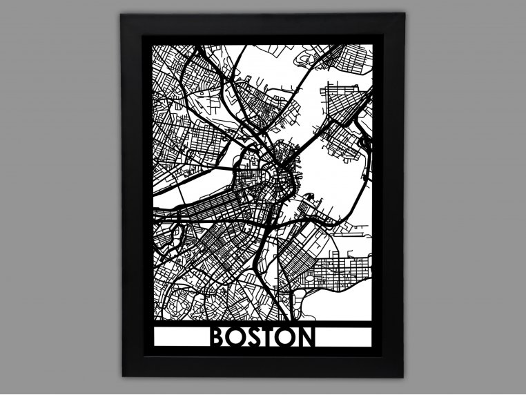 Laser Cut Worldwide City Map by Cut Maps - 4