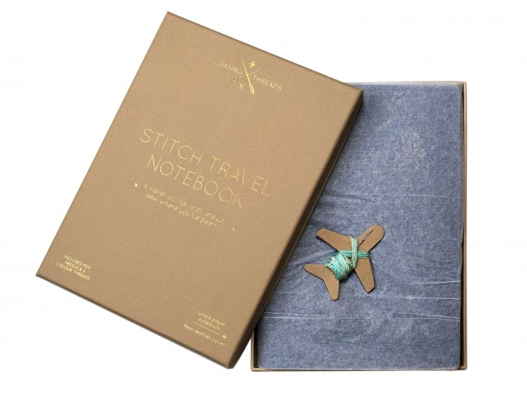 Stitch-Your-Travels Leather Notebook by Chasing Threads - 7