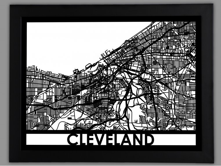 Laser Cut Worldwide City Map by Cut Maps - 28