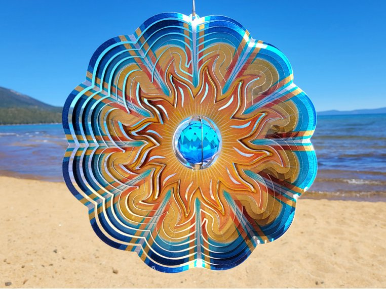 Metal Wind Spinner with Crystals Inside by Spinfinity Designs - 2