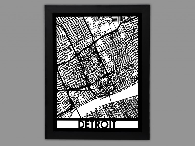 Laser Cut Worldwide City Map by Cut Maps - 13