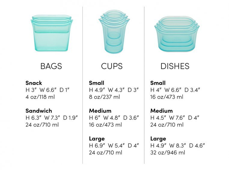 Reusable Silicone Container Set by Zip Top - 6