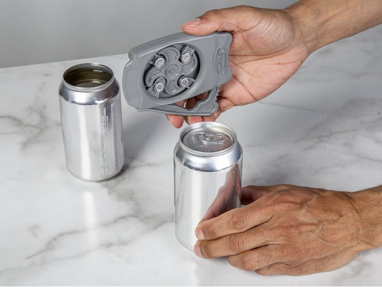 Aluminum Beverage Can Top Opener by Draft Top - 1
