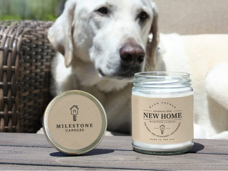 New Home Mason Jar Candle by Milestone Candles - 2
