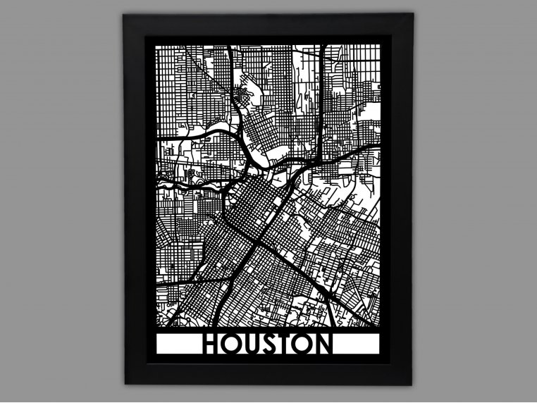 Laser Cut Worldwide City Map by Cut Maps - 39