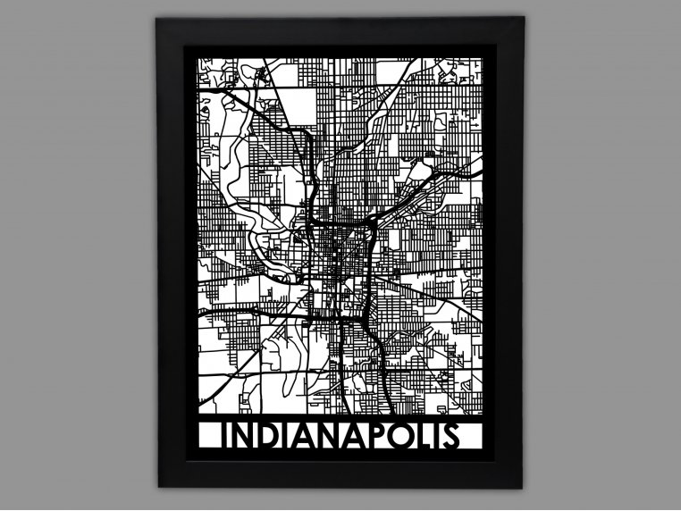 Laser Cut Worldwide City Map by Cut Maps - 40