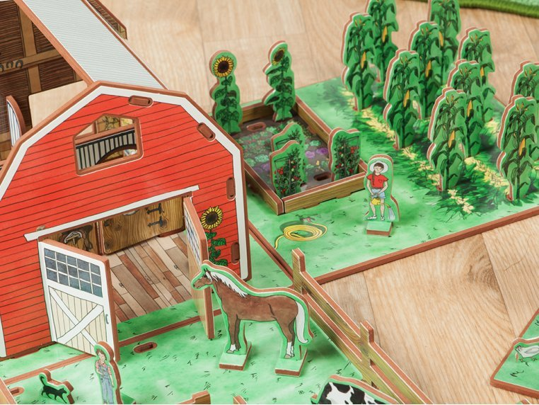 Family Farm Playset & Storybook by Storytime Toys - 6