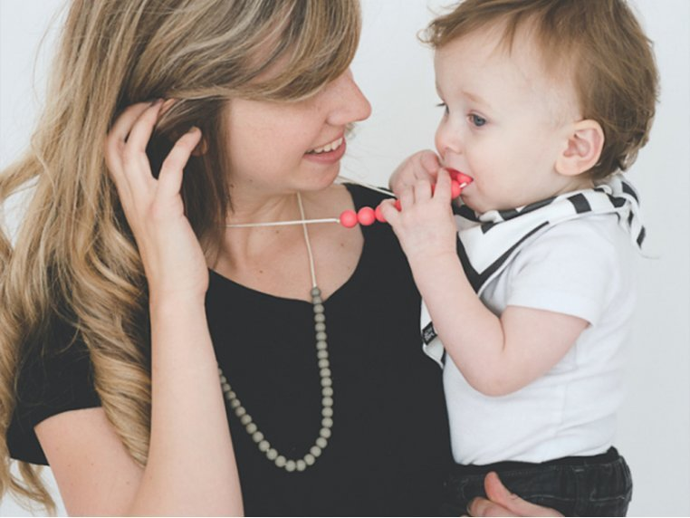 Deila Silicone Teething Necklace by Mama & Little - 2