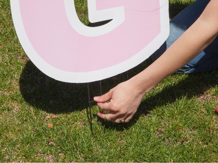Statement Yard Sign - It's A Girl by My Yard Card - 3