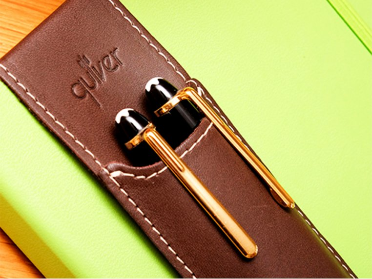 A5 Size Double Pen Holder by Quiver - 1