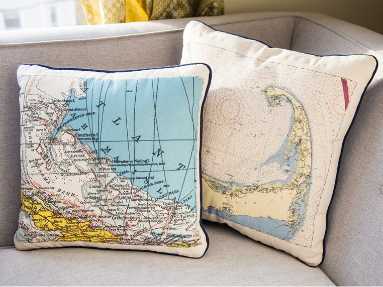 Custom Nautical Pillow by Not for Navigation - 3