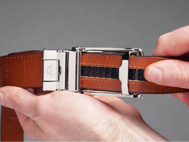 Premium Leather Belt & Buckle by SlideBelts - 5