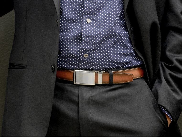 Premium Leather Belt & Buckle by SlideBelts - 2