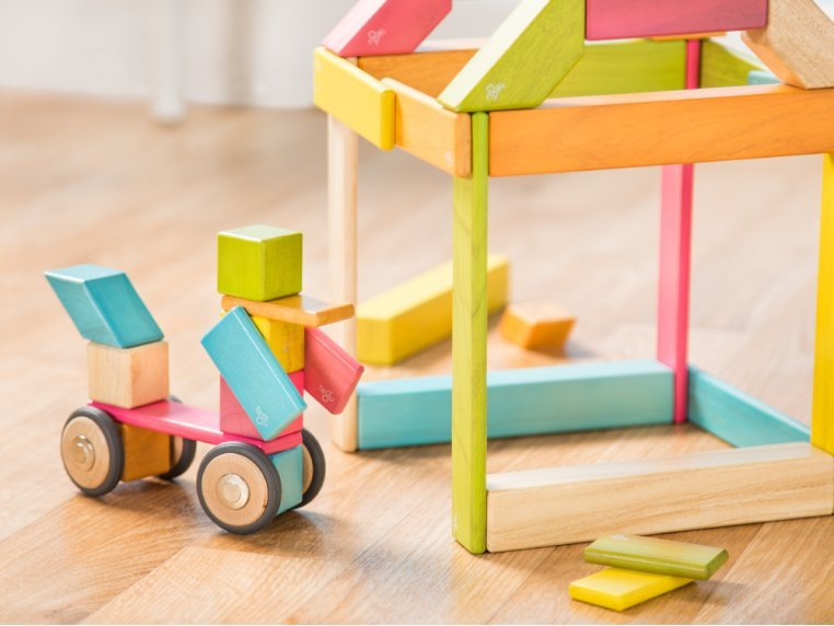 42 Piece Magnetic Wooden Block Set by Tegu - 3