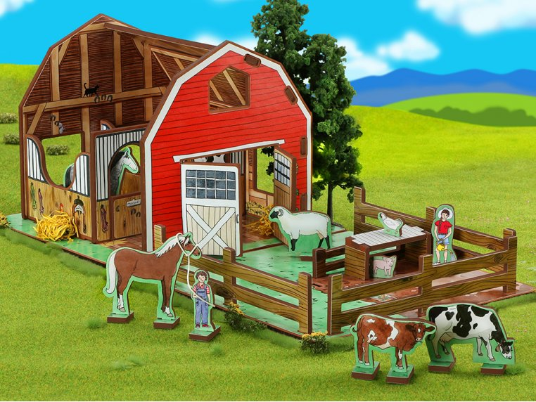Family Farm Playset & Storybook by Storytime Toys - 5