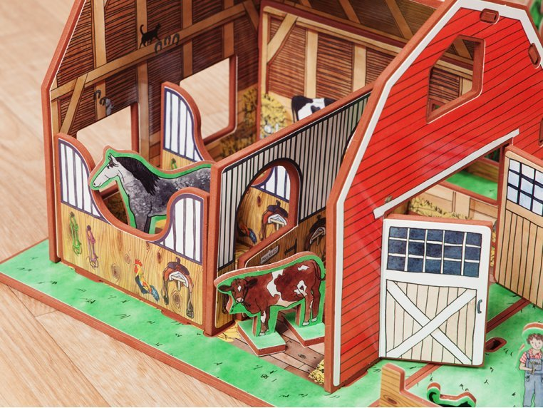 Family Farm Playset & Storybook by Storytime Toys - 4