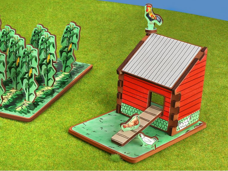 Family Farm Playset & Storybook by Storytime Toys - 3