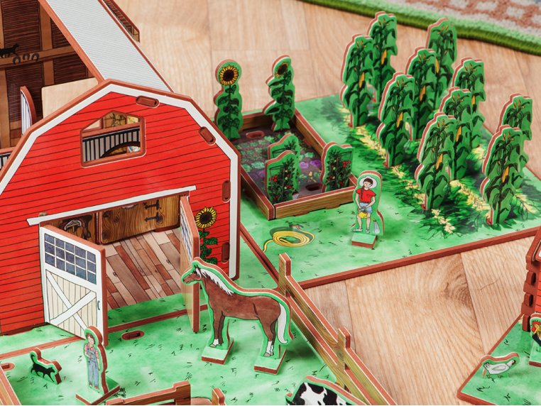 Family Farm Playset & Storybook by Storytime Toys - 2
