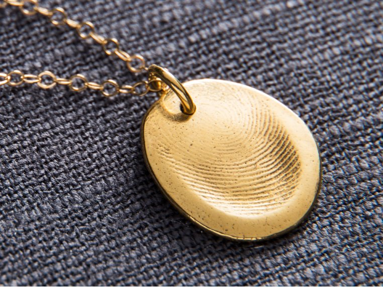 Fingerprint Pendant Necklace Kit by Precious Metal Prints - 4