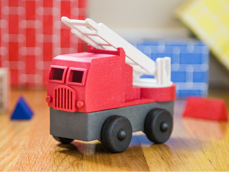 EcoTruck Fire Truck by Luke's Toy Factory - 2