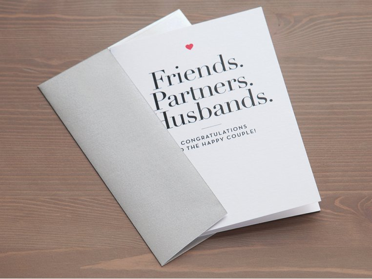 """Friends, Partners, Husbands"" Card by Design With Heart - 2"