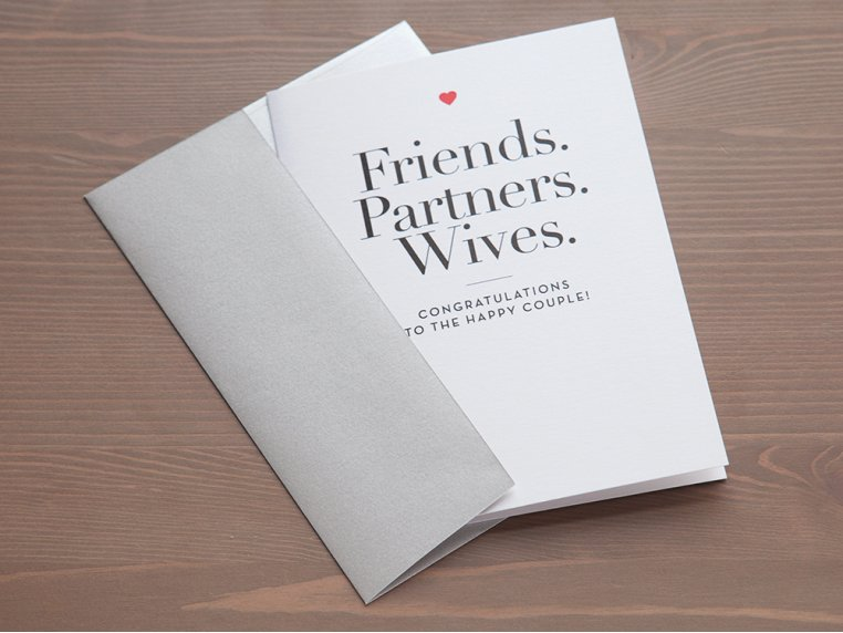"""Friends, Partners, Wives"" Card by Design With Heart - 2"