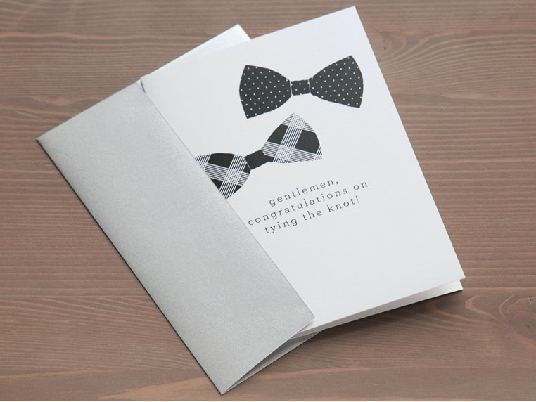 """""""Gentlemen, Congrats"""" Greeting Card by Design With Heart - 2"""