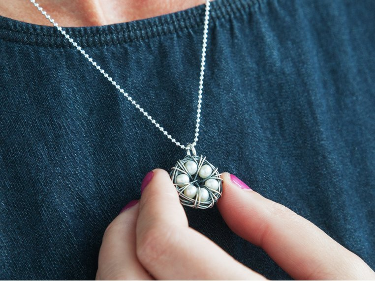 Messy Nest Necklace by The Vintage Pearl - 3