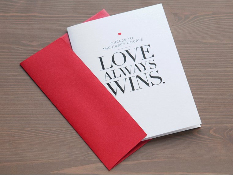 Love Always Wins Greeting Card by Design With Heart - 2