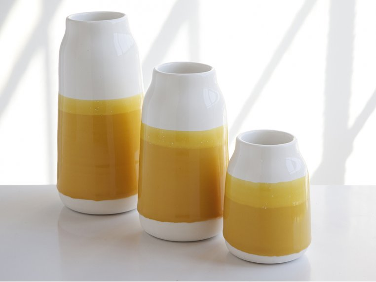 Set of 3 Porcelain Milk Vases by Robert Siegel Studio - 3