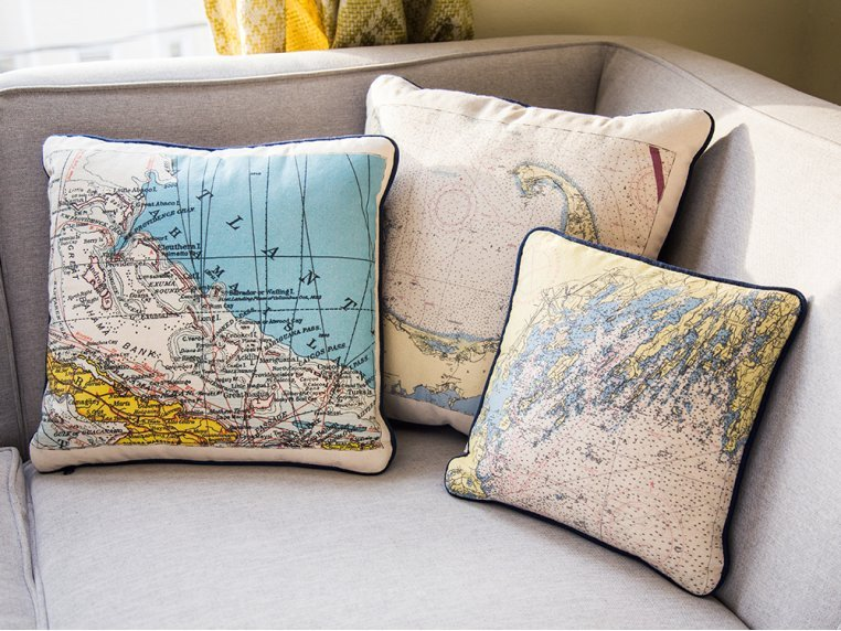 Custom Nautical Pillow by Not for Navigation - 2