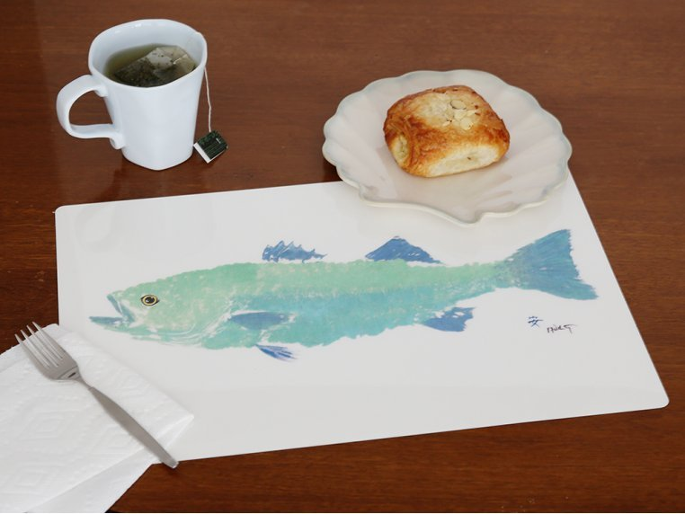Fish-Rubbing Placemats - Set of 4 by Fish Aye Trading - 2