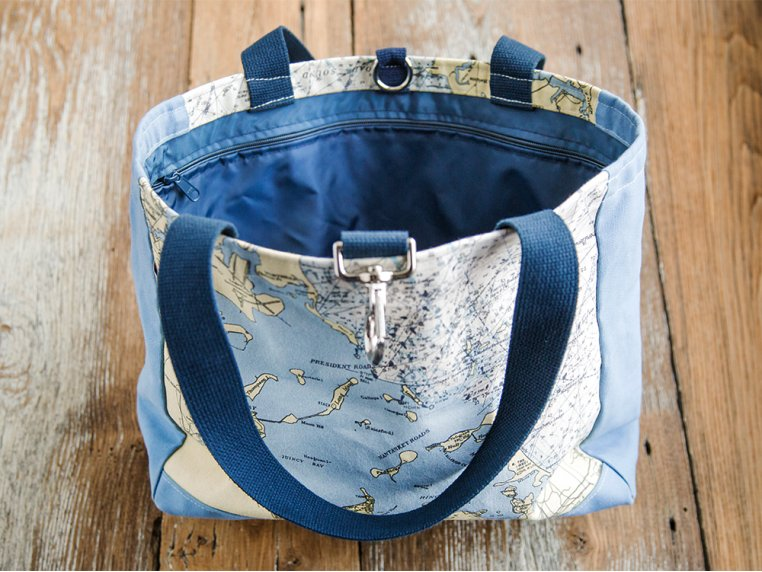 Custom Nautical Side Tote by Not for Navigation - 2
