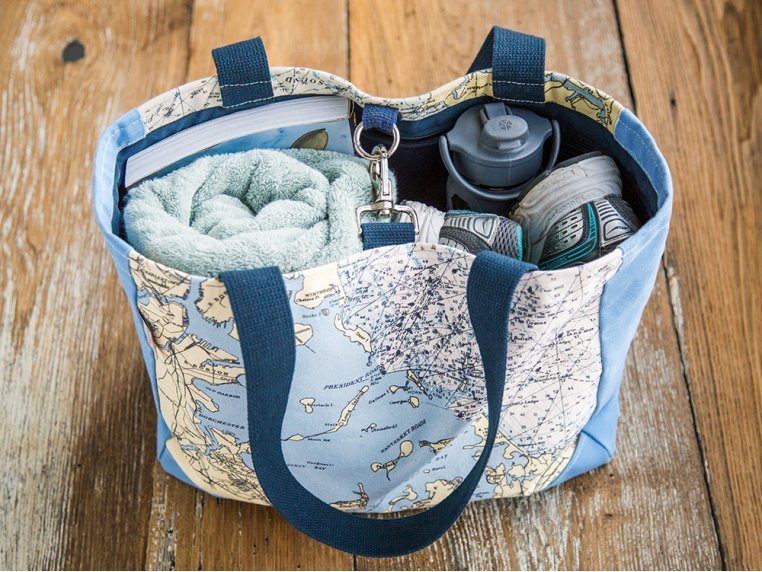 Custom Nautical Side Tote by Not for Navigation - 3