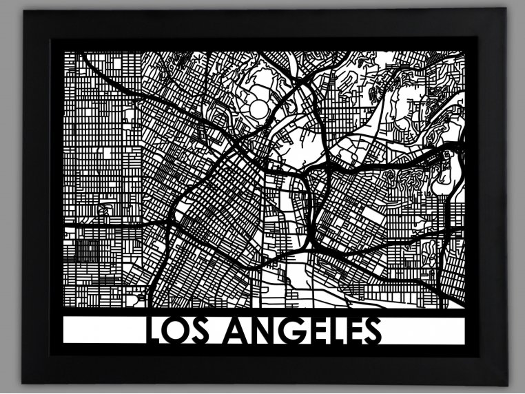 Laser Cut Worldwide City Map by Cut Maps - 8