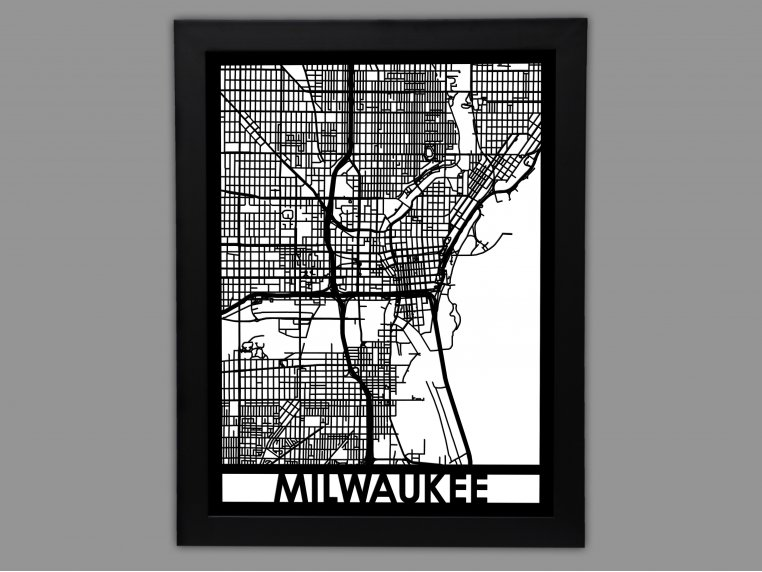 Laser Cut Worldwide City Map by Cut Maps - 32
