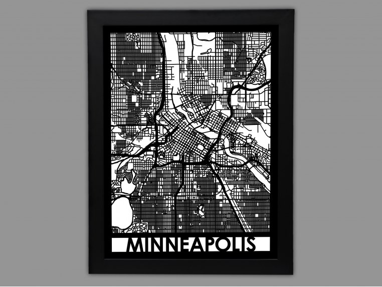 Laser Cut Worldwide City Map by Cut Maps - 31