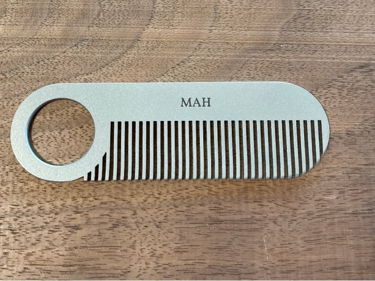 Model No. 2 Stainless Steel Comb by Chicago Comb Co. - 1