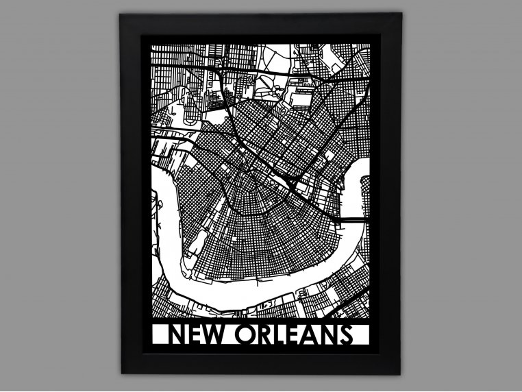 Laser Cut Worldwide City Map by Cut Maps - 10