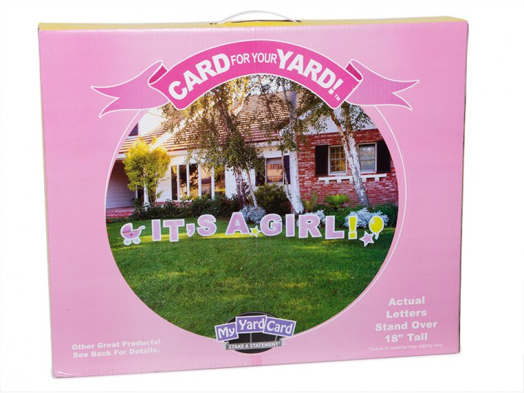 Statement Yard Sign - It's A Girl by My Yard Card - 8