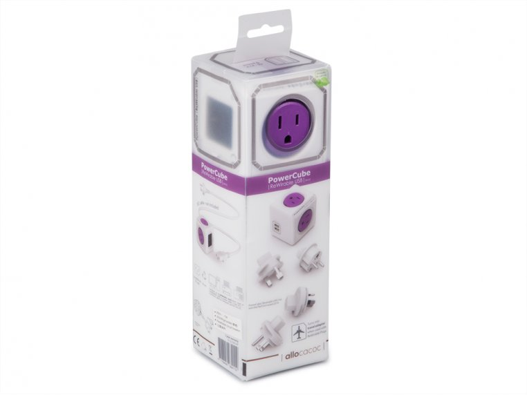 Single Outlet Travel Adapter by PowerCube - 6