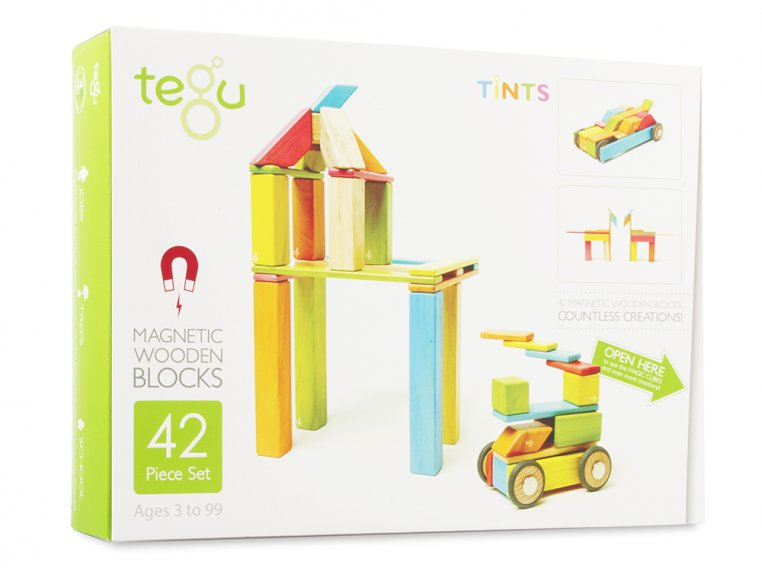 42 Piece Magnetic Wooden Block Set by Tegu - 8