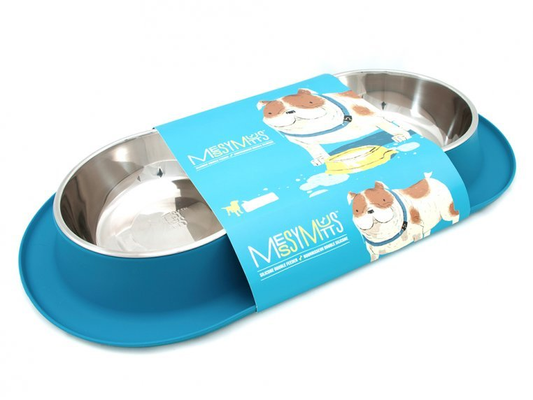 Dog Double Feeder Bowl by Messy Mutts - 4