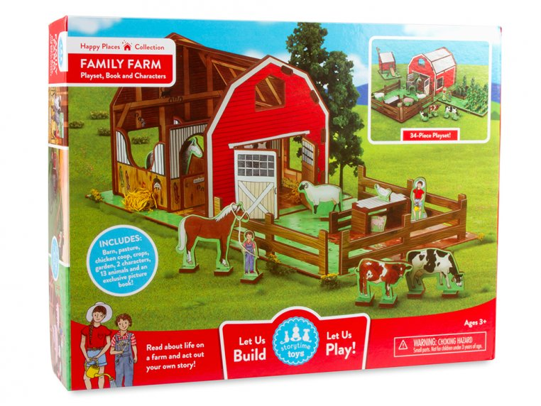 Family Farm Playset & Storybook by Storytime Toys - 8