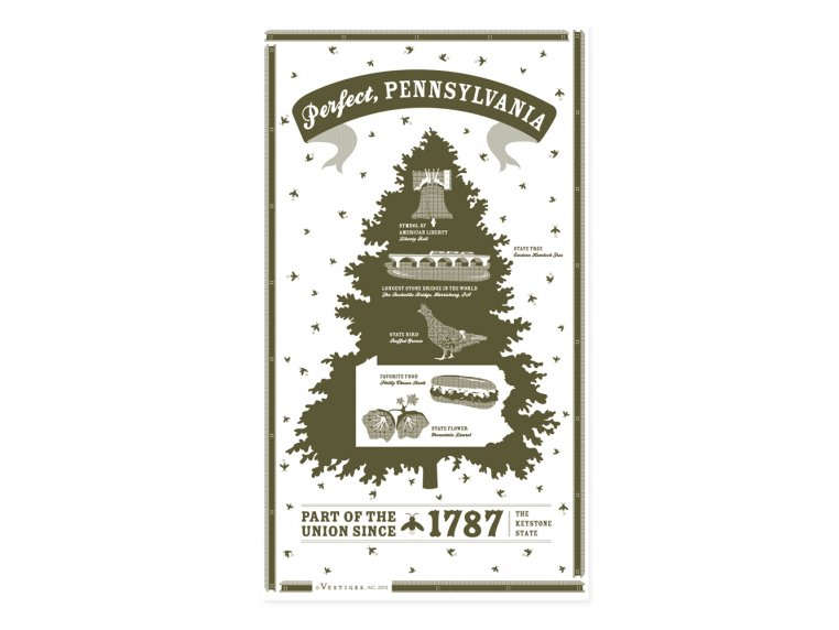 State Tea Towels by Vestiges - 39