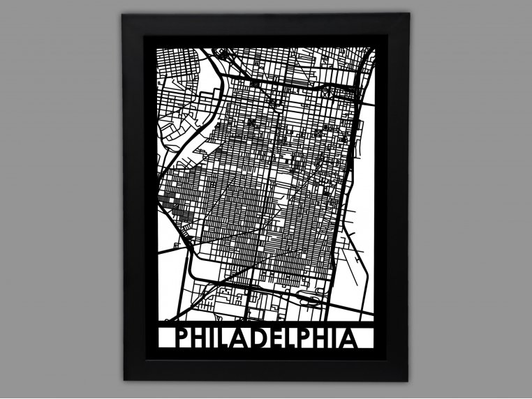 Laser Cut Worldwide City Map by Cut Maps - 6
