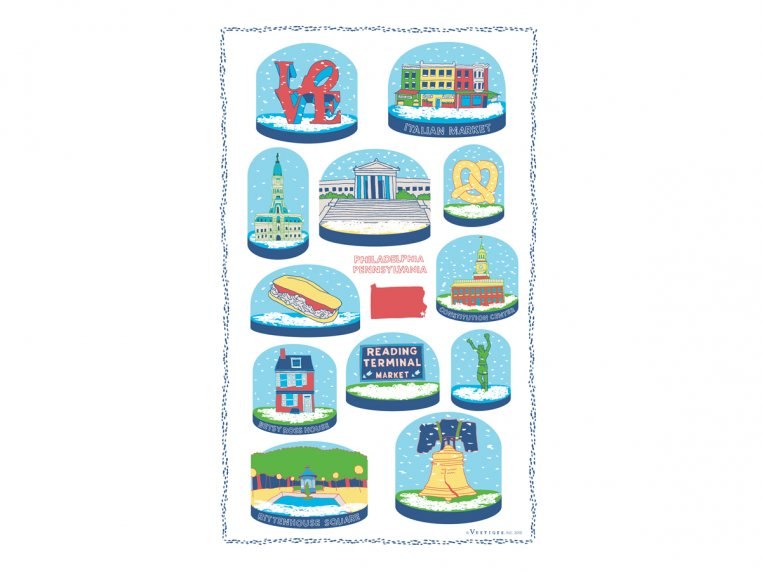 Snow Globe Tea Towels by Vestiges - 8