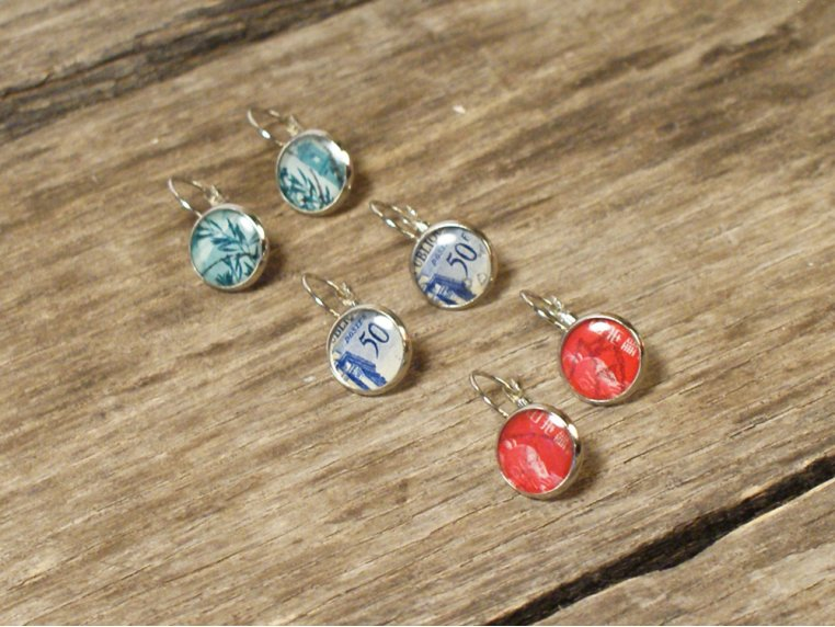 Authentic Stamp Earrings by Postali - 1