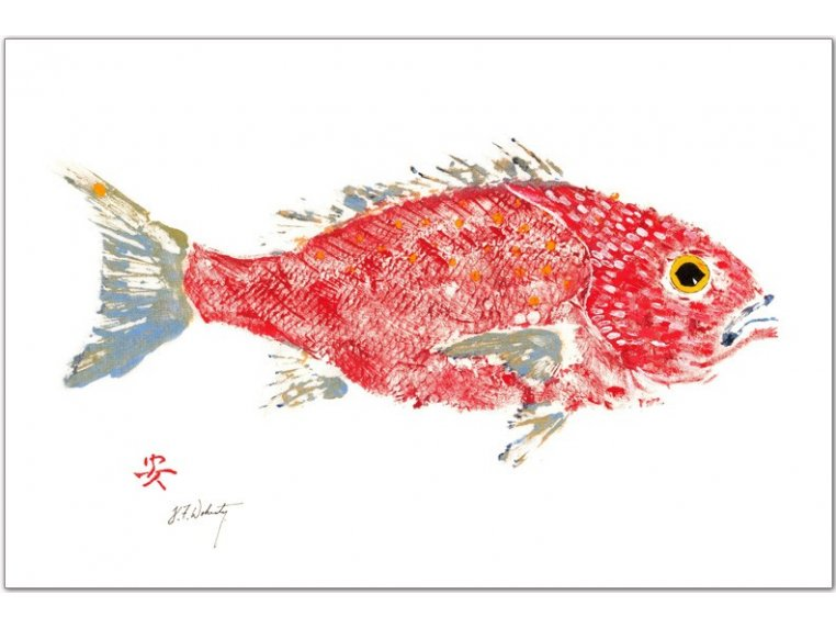 Fish-Rubbing Placemats - Set of 4 by Fish Aye Trading - 5