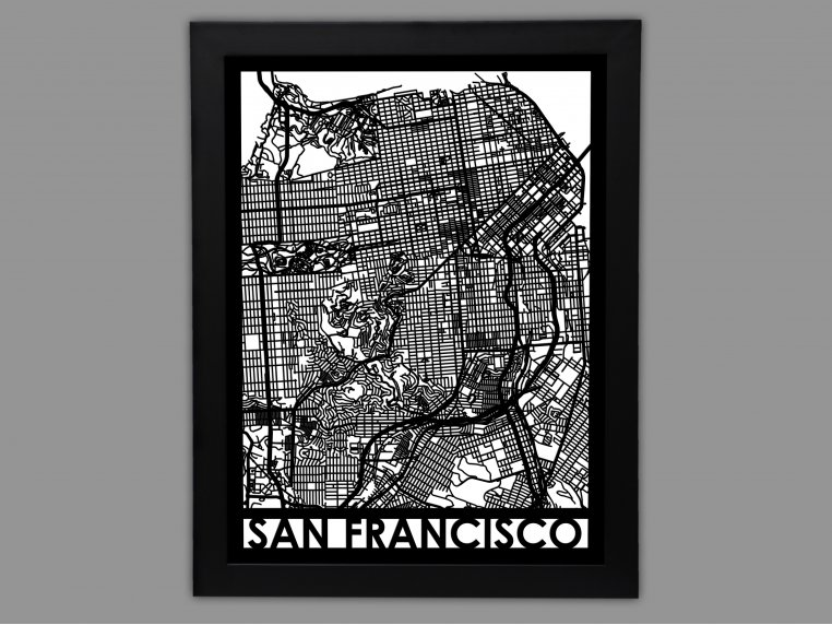 Laser Cut Worldwide City Map by Cut Maps - 9